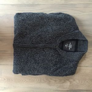 Men's H&M Heather Blue Zip Sweater
